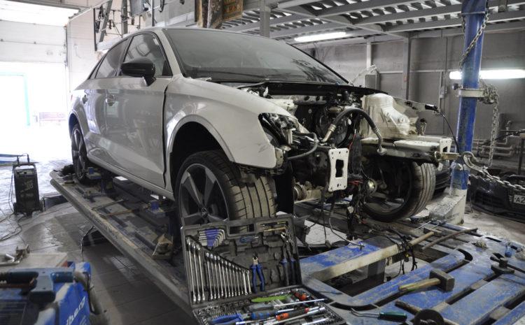 АУДИ А3 2016 г. 1.8Т  Сложный кузовной ремонт